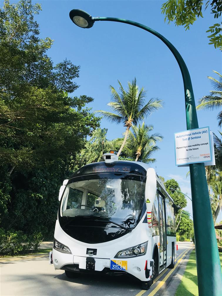Autonomous Vehicle (AV) test at Sentosa